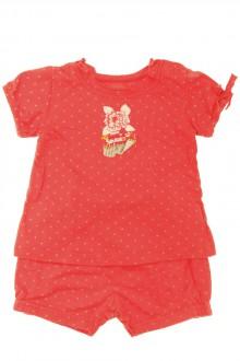 vêtements bébés Pyjama court à pois Marèse 3 mois Marèse