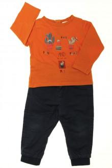 vetements enfants d occasion Ensemble pantalon et tee-shirt Tape à l'Œil 2 ans  Tape à l'œil