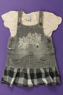 habits bébé occasion Ensemble robe en jean et tee-shirt Confetti 3 mois Confetti