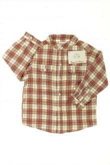 vetement bébé d occasion Chemise à carreaux - NEUF Bout'Chou 18 mois Bout'Chou