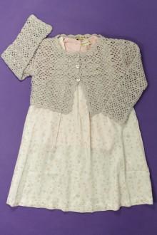 habits bébé Ensemble robe, tee-shirt et gilet Grain de Blé 18 mois Grain de Blé