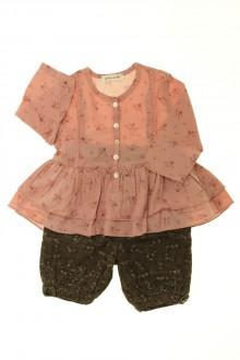 vetement bébé d occasion Ensemble pantalon et blouse Grain de Blé 3 mois Grain de Blé
