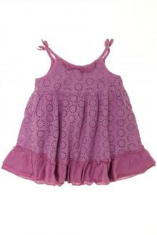 Habit de bébé d'occasion Robe en broderie anglaise Zara 9 mois Zara