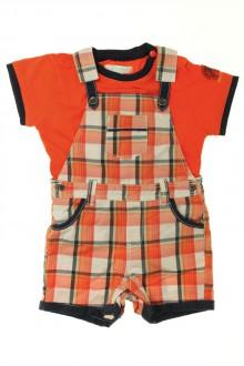 Habit d'occasion pour bébé Ensemble salopette et tee-shirt Obaïbi 6 mois Obaïbi