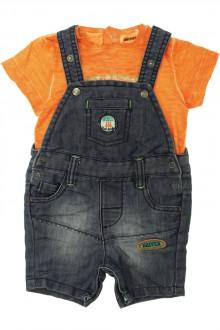 vetement bébé d occasion Ensemble salopette en jean et tee-shirt Orchestra 6 mois Orchestra