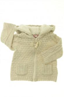 Habits pour bébé occasion Gilet/veste zippé DPAM 6 mois DPAM