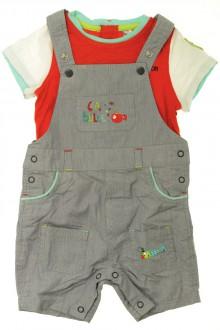 vêtements bébés Ensemble salopette courte et tee-shirt Orchestra 9 mois Orchestra