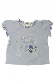 Habits pour bébé occasion Tee-shirt manches courtes fleuri Sergent Major 3 mois Sergent Major