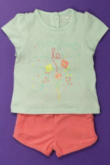 vêtements bébés Ensemble short et tee-shirt Orchestra 3 mois Orchestra