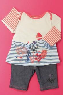 vêtements bébés Ensemble pantalon et tee-shirt