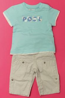 Habit d'occasion pour bébé Ensemble pantalon et tee-shirt Obaïbi 3 mois Obaïbi