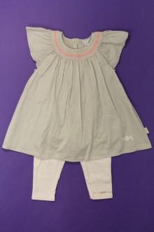 vetement bébé d occasion Ensemble robe et legging P'tit bisou 9 mois P'tit Bisou