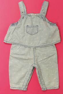 vêtements bébés Salopette à pois Natalys 9 mois Natalys