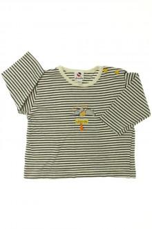 Habits pour bébé occasion Tee-shirt rayé manches longues Absorba 3 mois Absorba