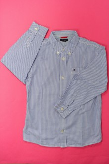vetement d'occasion enfants Chemise à fines rayures Tommy Hilfiger 7 ans Tommy Hilfiger