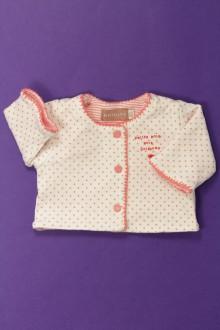 vêtements bébés Gilet à pois - Prématuré Natalys Naissance Natalys