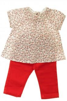 vêtements bébés Ensemble blouse et jean Petit Bateau 3 mois Petit Bateau