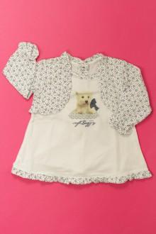 vetements d occasion bébé Tee-shirt effet trompe l'œil Chicco 3 mois Chicco