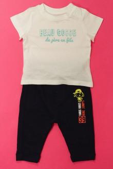 Habits pour bébé Ensemble legging et tee-shirt Grain de Blé 3 mois Grain de Blé