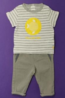 Habits pour bébé occasion Ensemble pantalon et tee-shirt Obaïbi 3 mois Obaïbi