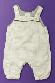 habits bébé occasion Salopette molletonnée à carreaux Natalys 3 mois  Natalys