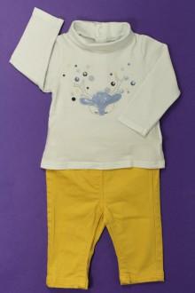 vêtements bébés Ensemble jean de couleur et sous-pull Obaïbi 3 mois Obaïbi