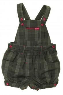 vêtements bébés Salopette courte à carreaux Orchestra 9 mois Orchestra
