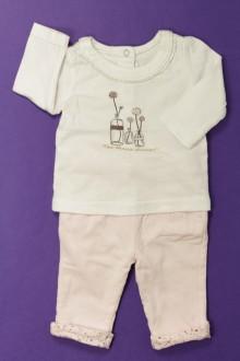 habits bébé occasion Ensemble tee-shirt et legging Tape à l'Œil 1 mois Tape à l'œil