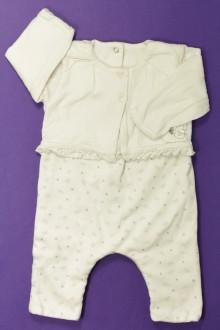 vetement bébé d occasion Pyjama/Dors-bien trompe l'œil Absorba 3 mois Absorba