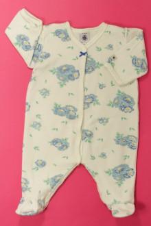 habits bébé Pyjama/Dors-bien fleuri en velours Petit Bateau 3 mois Petit Bateau