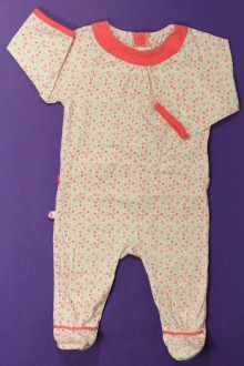 habits bébé occasion Pyjama/Dors-bien fleuri en coton Obaïbi 3 mois Obaïbi