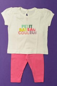 Habits pour bébé occasion Ensemble tee-shirt et legging Petit Bateau 3 mois Petit Bateau