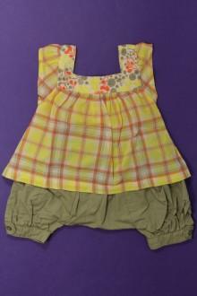 Habits pour bébé Ensemble sarouhel et blouse Vertbaudet 3 mois Vertbaudet