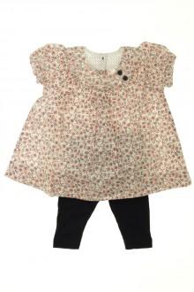 Habit de bébé d'occasion Ensemble robe et legging Petit Bateau 3 mois Petit Bateau