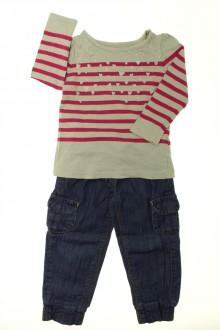vêtements occasion enfants Ensemble jean et tee-shirt Vertbaudet 2 ans Vertbaudet