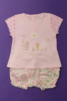 Habit de bébé d'occasion Ensemble tee-shirt et short 3 Pommes 18 mois 3 Pommes