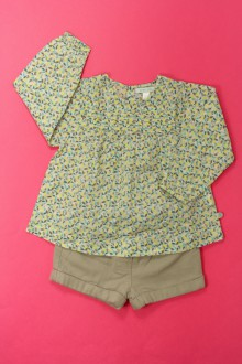 vêtements bébés Ensemble short et blouse Obaïbi 18 mois Obaïbi
