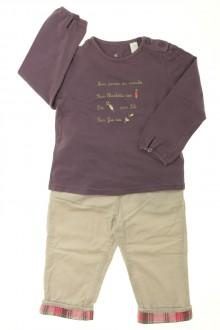 habits bébé Ensemble pantalon et tee-shirt Obaïbi 18 mois Obaïbi