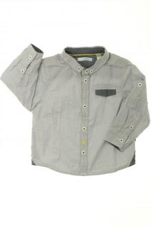 habits bébé Chemise à fines rayures Obaïbi 18 mois Obaïbi