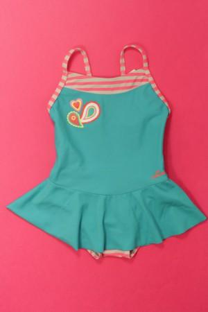 taille 40 75ef1 71581 Maillot de bain Turquoise, rose et blanc Décathlon 3 ans