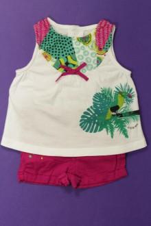 vêtements bébés Ensemble short et débardeur La Compagnie des Petits 3 mois La Compagnie des Petits