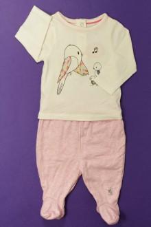 habits bébé Ensemble legging à pieds et tee-shirt Orchestra 3 mois Orchestra