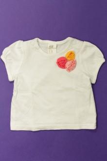 e3077b80ba475 vetement bébé d occasion Tee-shirt manches courtes H M 1 mois H M