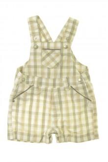 habits bébé Salopette courte à carreaux Obaïbi 1 mois Obaïbi