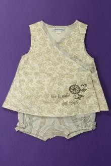 Habits pour bébé occasion Ensemble robe et shorty Vertbaudet 1 mois Vertbaudet