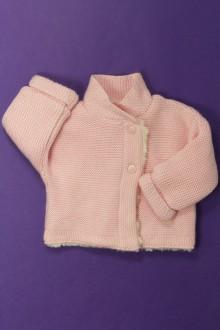 habits bébé Gilet doublé peluche Tape à l'œil 1 mois Tape à l'œil