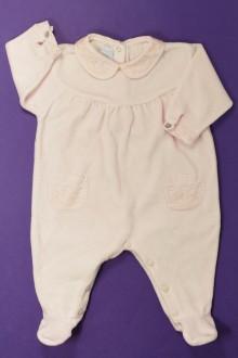 vêtements bébés Pyjama/Dors-bien brodé en velours  Tartine et Chocolat 3 mois Tartine et Chocolat