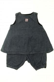 habits bébé occasion Ensemble en jean blouse et pantalon Jacadi 3 mois Jacadi