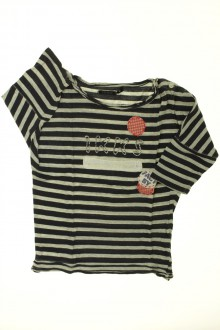 vetement occasion enfants Tee-shirt rayé manches 3/4 IKKS 4 ans IKKS