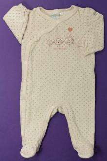 vetements d occasion bébé Pyjama/Dors-bien en velours à pois Cadet Rousselle 3 mois Cadet Rousselle